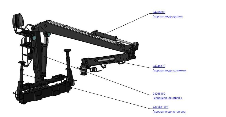 гидроцилиндры к манипулятору СФ-65С