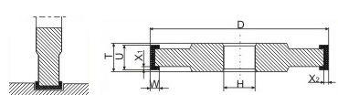 Круги алмазные шлифовальные прямого профиля трехсторонние 14U1