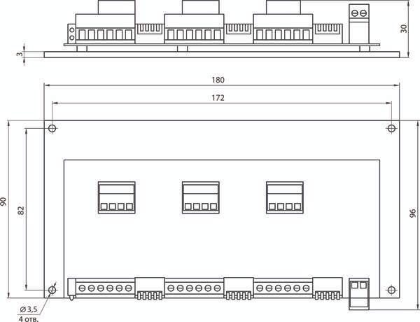 Габаритные и присоединительные размеры SMD-303