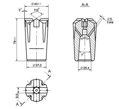 Крестовая коронка БКПМ 43-25 КМ (1)