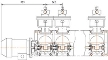 Рис. Компоновка блочного дозировочного агрегата на базе привода серии АР40.1