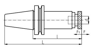 резьбонарезной патрон с предохранительными головками хвостовик MAS-403