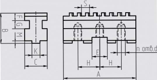 Кулачки базовые (рейки) к токарным патронам (1)