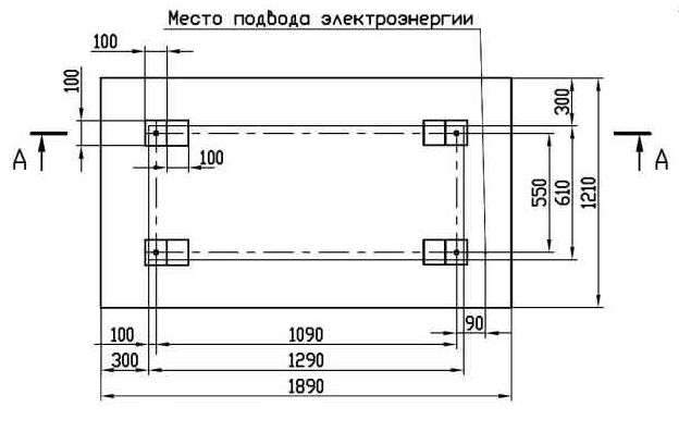 Монтажный чертеж станка ГД200