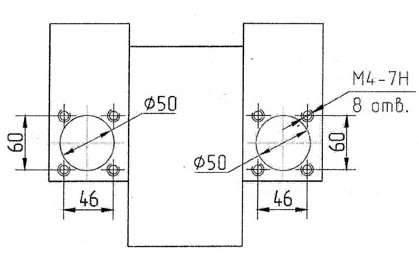 Размер основания станка
