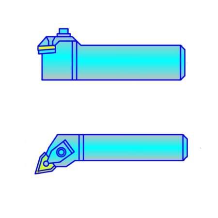 Резцы с СМП контурные с пластиной ломанный треугольник