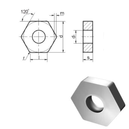 HNUA(11113) пластины шестигранной формы с отверстием