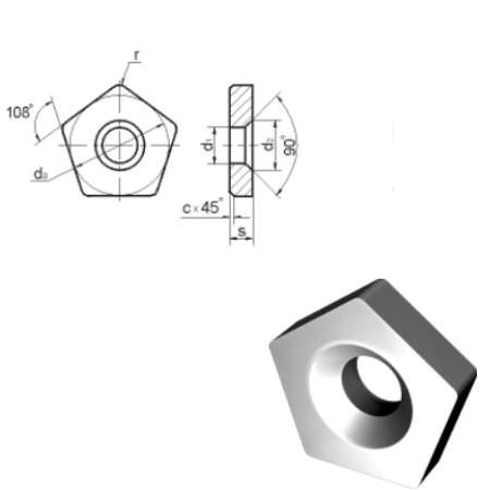 OPN (751) Сменные опорные многогранные пластины