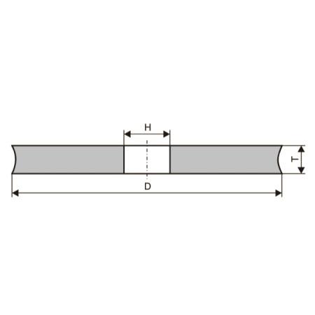 Круги шлифовальные специального профиля (тип 1-J)