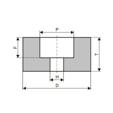 Круги шлифовальные с выточкой (тип 5)