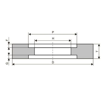 Круги шлифовальные с двусторонней выточкой (тип 7)