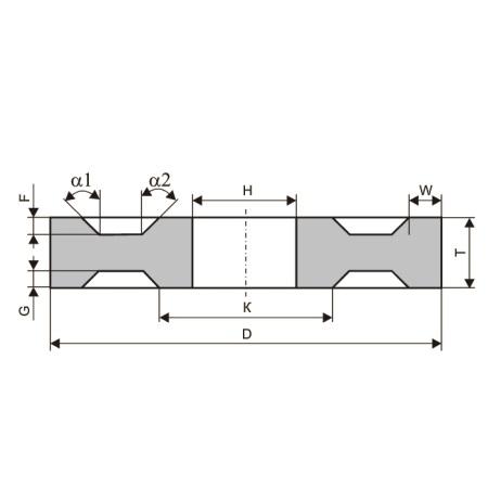 Круги шлифовальные с двусторонней выточкой (тип 8-S)