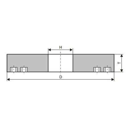 Круги шлифовальные с запрессованными крепежными элементами (тип 36)
