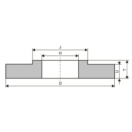 Круги шлифовальные с односторонней ступицей (тип 38)