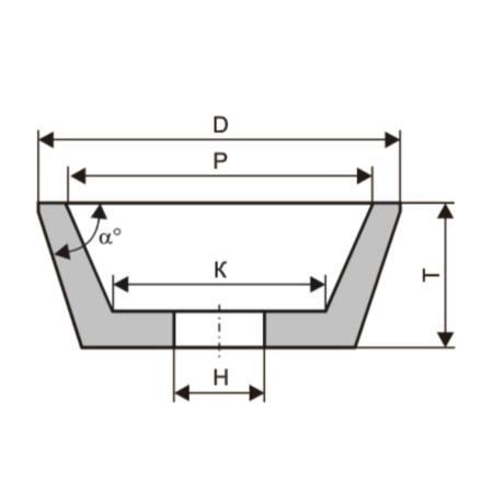 Круги шлифовальные - чашки конические (тип 11)