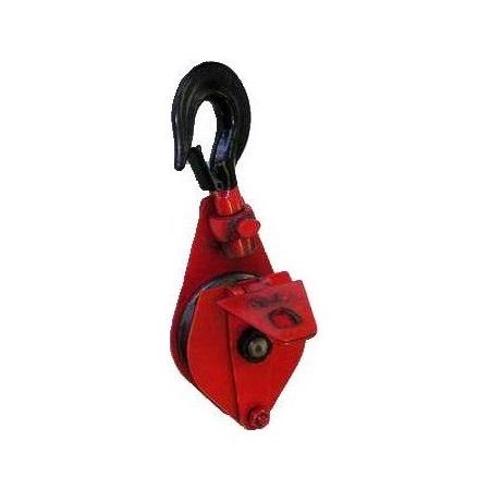 Блок монтажный однорольный шкивовый усиленный с крюком (Китай)