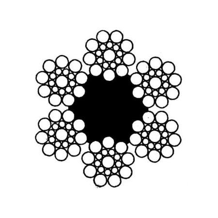 Канат стальной двойной свивки типа ЛК-О (ГОСТ 3077-80)