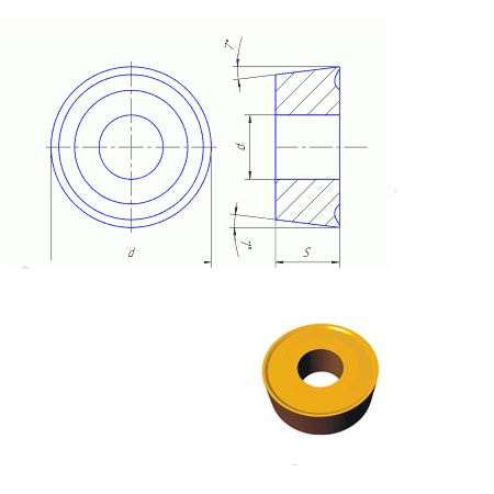 RCMM (12224) пластина сменная круглая с задним углом 7° ГОСТ 19072-80
