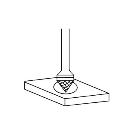 Borfreza konicheskaia 90º K; K1 povy`shennoi` tochnosti