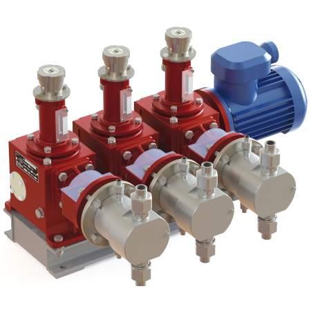 Агрегаты с мощностью электродвигателя до 1 кВт с горизонтальным расположением приводного вала