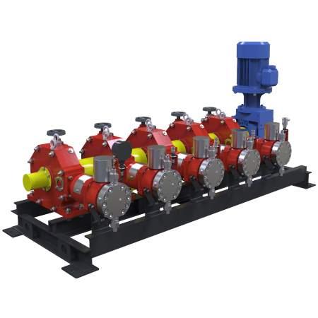 Агрегаты с мощностью электродвигателя до 15 кВт с горизонтальным расположением приводного вала. Серия АР45