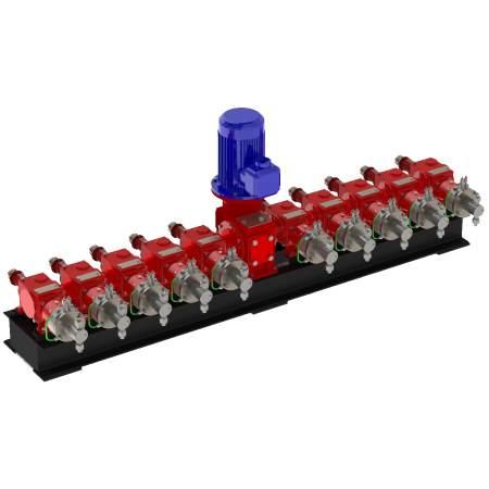 Агрегаты с мощностью электродвигателя до 5,5 кВт с горизонтальным расположением приводного вала. Серия АР51.5