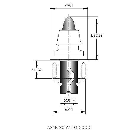 серия A34WEL инструмент для дорожных машин