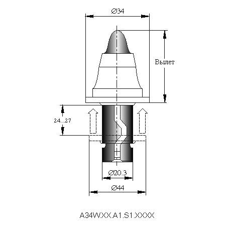 серия A34WL инструмент для дорожных машин
