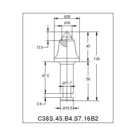 C38N-16T траншейные резцы