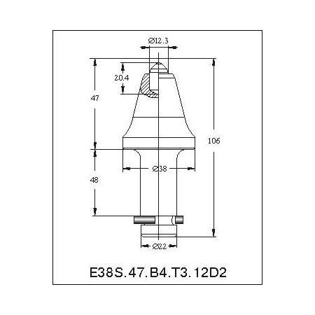 E38N-12,3D траншейные резцы